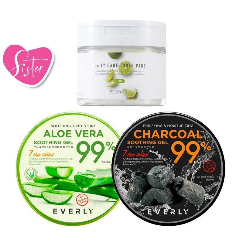 Aloe Vera Gel + Daily Care Toner Pads