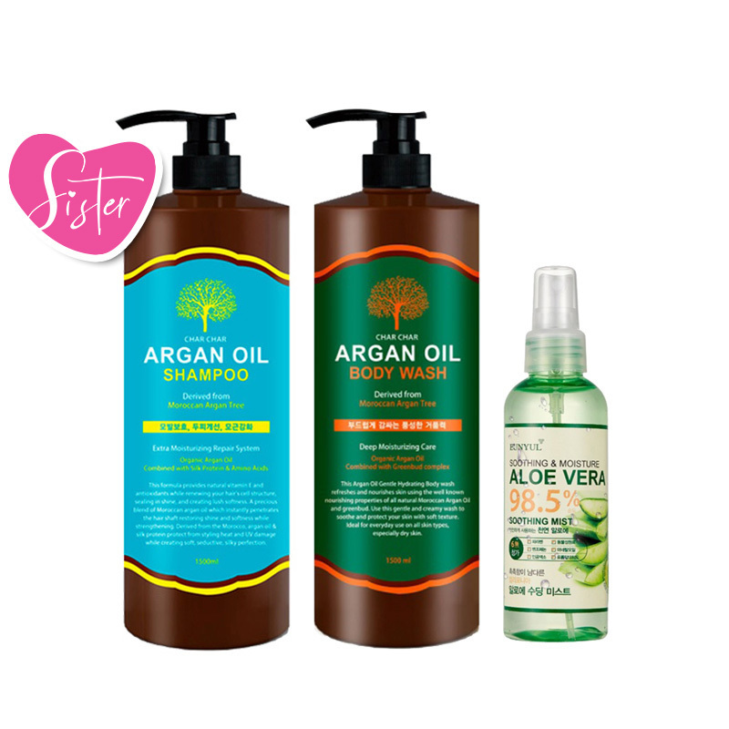 Argan Oil Hair + Body Care Set